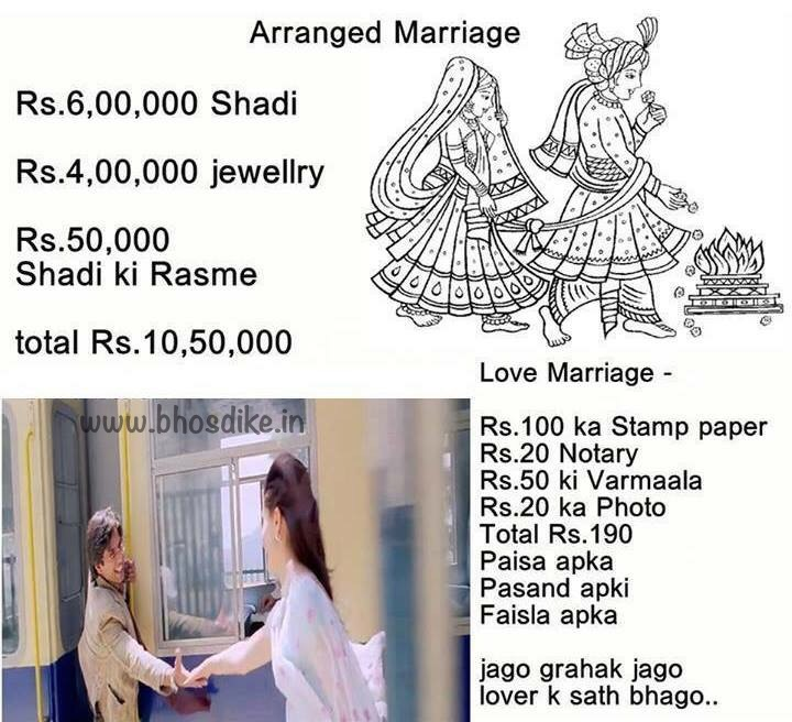 Arranged marriages and love marriages essay